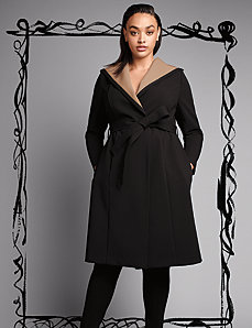 Luxe wrap coat by Isabel Toledo