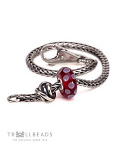Luck and Joy Burgundy Bracelet by Trollbeads