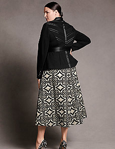Belted ponte chevron back jacket by Isabel Toledo