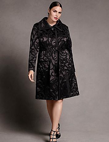 Plus size designer trench coat by Isabel Toledo