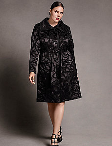 Jacquard trench coat by Isabel Toledo