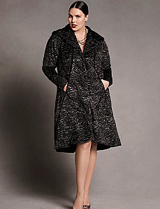Faux fur swing coat by Isabel Toledo
