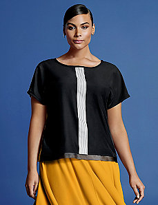 Draped back tee by Isabel Toledo