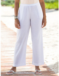 Cotton Gauze Pants by Ulla Popken