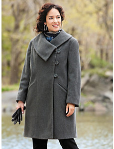 Classic Dress Coat by Ulla Popken