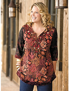 Embroidered Tunic Blouse by Ulla Popken