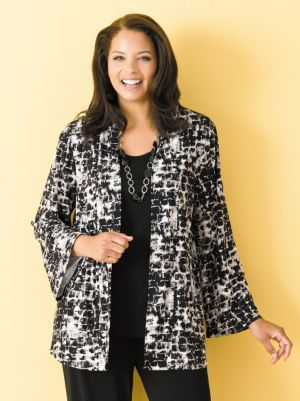 Matte Jersey Shawl Collar Jacket