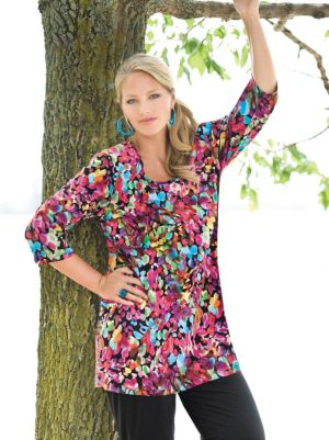 Artist Print Stretch Knit Tunic