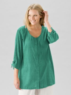 Cotton Gauze Tunic Blouse