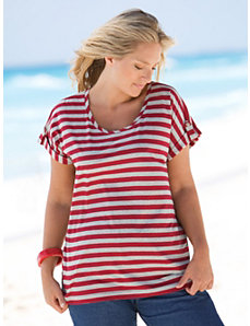Striped Nautical Tee by Ulla Popken