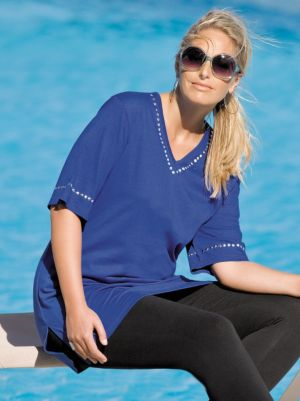 Grommet Detailed Knit Tunic