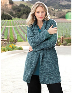 Shawl Collar Chenille Jacket by Ulla Popken