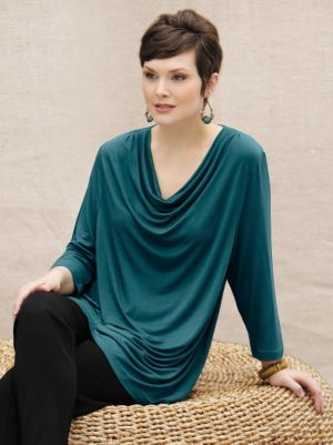 Waterfall Viscose Spandex Knit Top