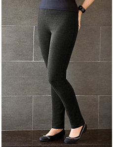 Stretch Ponte Knit Slim-cut Leggings by Ulla Popken