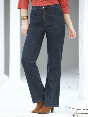 Stretch Denim Boot-cut Regular-length Jeans