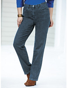 Stretch Denim Slim-leg Jeans by Ulla Popken