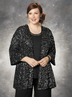 Sequined Swing Jacket