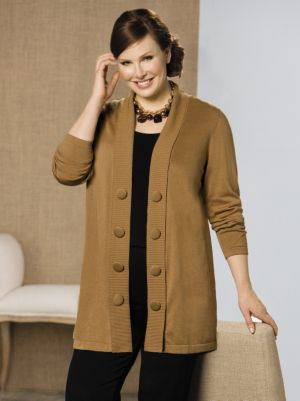 Big Button Cardigan Sweater
