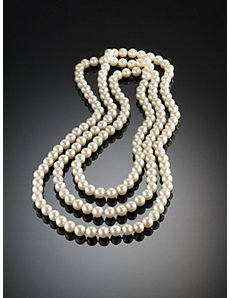 Carolee Pearl Rope Necklace by Ulla Popken