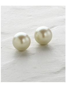 Carolee Pearl Stud Earrings by Ulla Popken