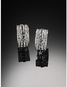 Carolee Crystal Hoop Earrings by Ulla Popken