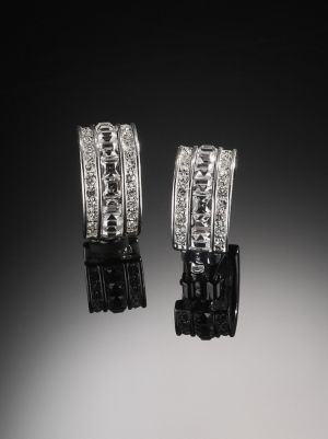 Carolee Crystal Hoop Earrings