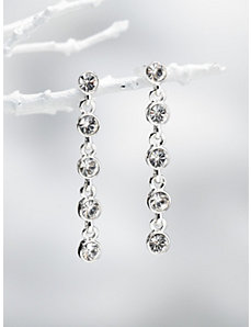 Carolee Rhinestone Drop Earrings by Ulla Popken