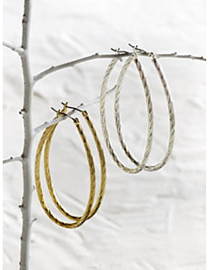 Oval Hoop Earrings by Ulla Popken