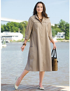 Swing Shirt Dress by Ulla Popken