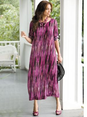 Linear Print Dress