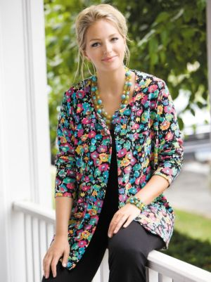 Floral Knit Cardigan