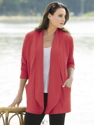 Seamed Knit Jacket