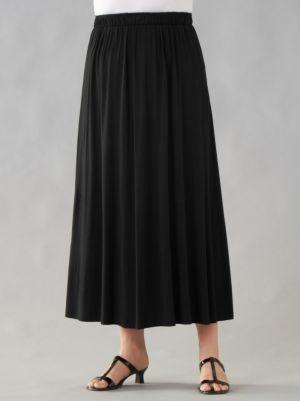 Matte Jersey A-line Skirt
