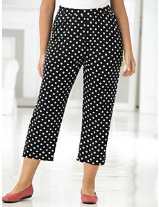 Polka Dot Knit Pants by Ulla Popken