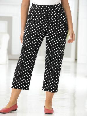 Polka Dot Knit Pants