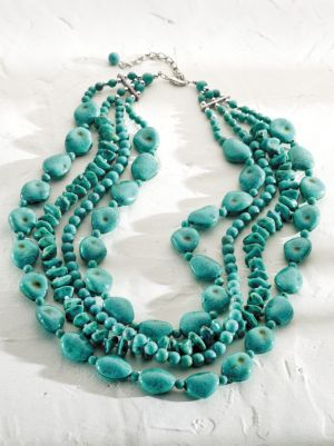 Stone and Bead Necklace