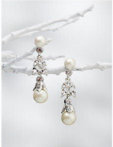 Carolee Crystal and Pearl Earrings by Ulla Popken