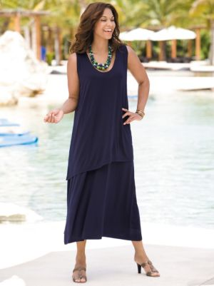 Double Tier Knit Tank Dress