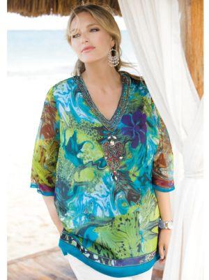 Embellished Floral Tunic