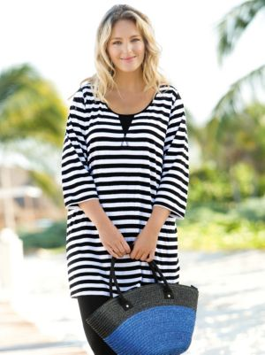 Striped Cotton Knit Tunic