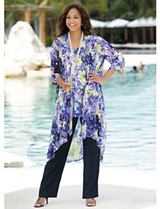 Floral 3-Piece Pant Set by Ulla Popken