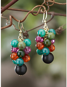 Autumn Cluster Drop Earrings by Ulla Popken