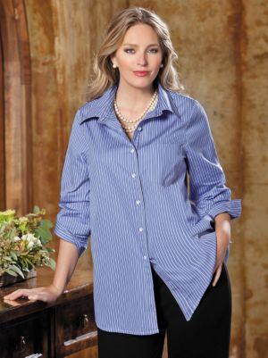 Iron-free Spread Collar Shirt