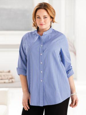 Iron-free Mandarin Collar Shirt