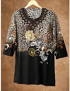 Garden of the Animals Knit Tunic by Ulla Popken