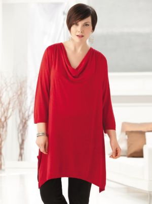 Waterfall Sharkbite Knit Tunic