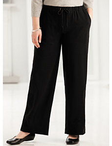 Stretch Knit Drawstring Pocket Pants by Ulla Popken