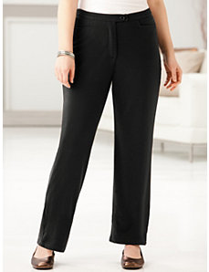 Ponte Knit Pants by Ulla Popken