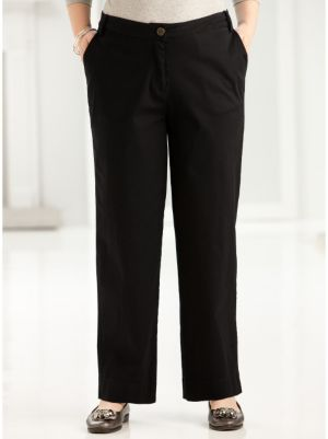 Short Stretch Twill Button Pant