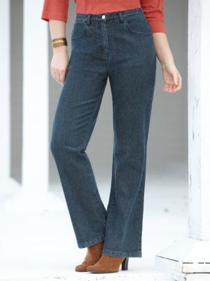 Short Stretch Denim Boot-cut Shorter-length Jeans